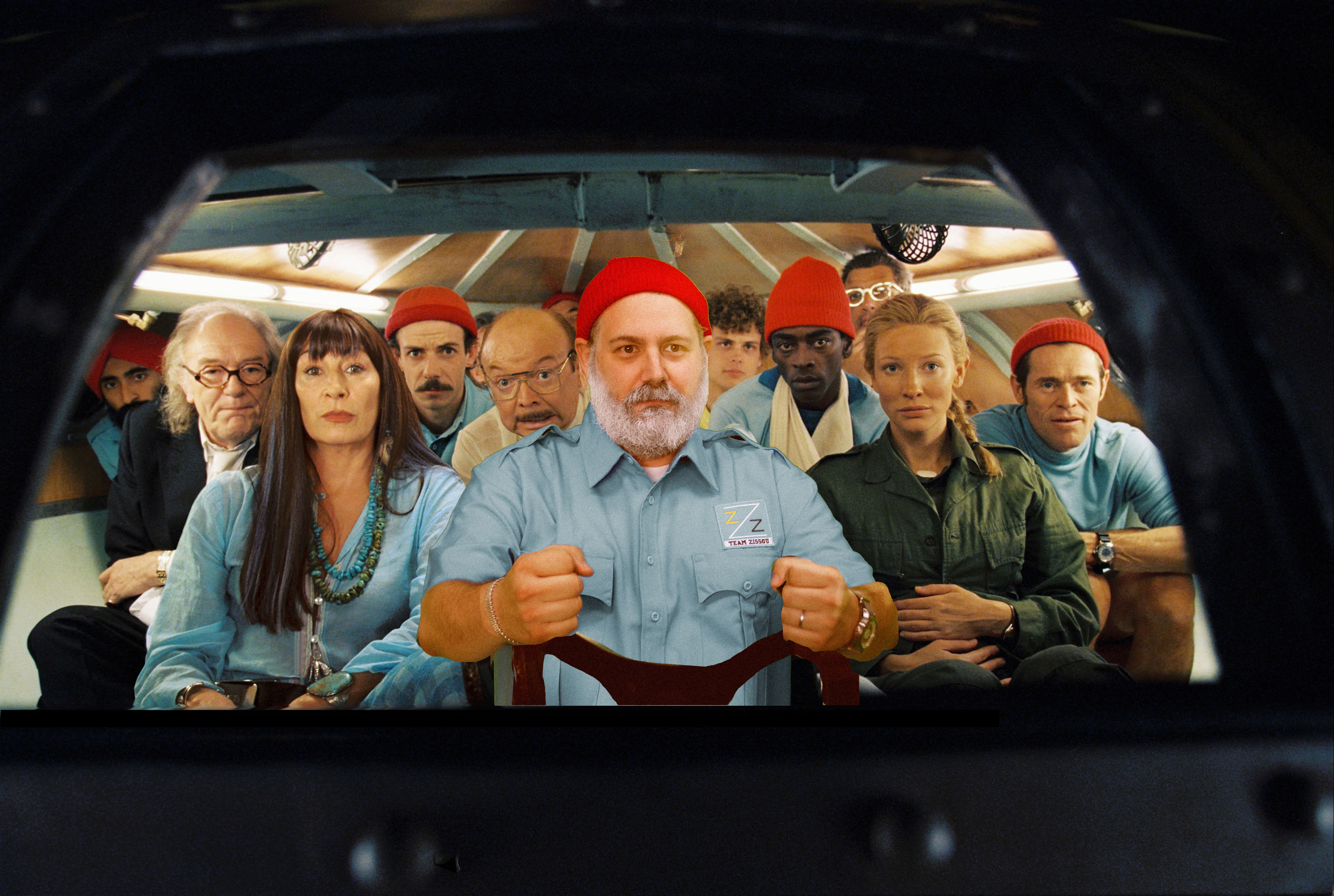 Pictured. front row left to right: Anjelica Huston, Bill Murray, Cate Blanchett, Willem Dafoe in a scene from LIFE AQUATIC, directed by Wes Anderson. Permission is hereby granted to magazines and newspapers to reproduce this picture on condition that it is accompanied by © Touchstone Pictures. Distributed by Buena Vista International.